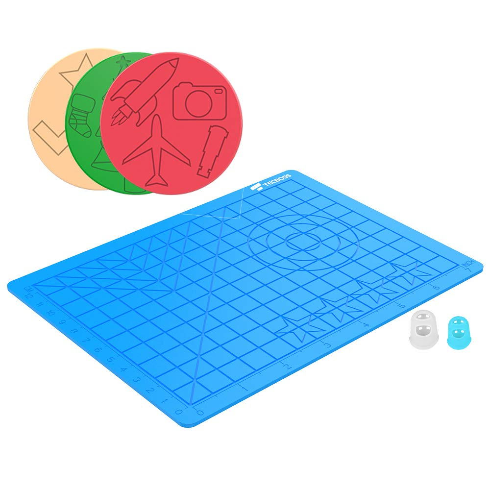 3D Printing Pen Mat with Basic Template Great 3D Pen Drawing Tools with 3D Pen Books and 2 Silicone Finger Caps